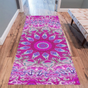 InterestPrint Home Contemporary Mandala Design Modern Runner Rug Carpet 3mx0.9m