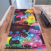 InterestPrint Home Contemporary Colourful Chihuahua Design Modern Runner Rug Carpet 3mx0.9m