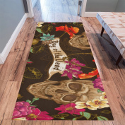 InterestPrint Home Contemporary Day of the dead Design Modern Runner Rug Carpet 3mx0.9m