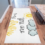 InterestPrint Home Contemporary You Are My Sunshine Design Modern Runner Rug Carpet 3mx0.9m