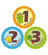 MuchMore Baby Monthly Stickers, Bodysuit Stickers ,Onesie Stickers Great Shower Gift Excellent Baby Photo Props #7501