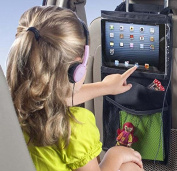 AyasA Compact backseat storage car organiser and Ipad holder to Organise All Baby and Kids Travel Accessories