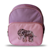 House of Botori Dumebi Elephant Back Pack, Pink and Purple