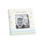 Beginnings by Enesco Little Sweetie Baby Boy Photo Frame, 10cm , Blue and White