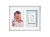 Tiny Ideas Baby's Prints Photo Frame with Included Impression Kit, Keepsake Wall, Silver