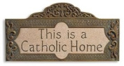 This is a Catholic Home Wall Plaque by1home