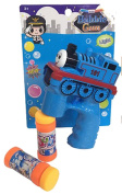 Brand New Novelty BLUE TRAIN ENGINE toy Bubble Gun with Sound, 2 Bubble Bottles and Batteries