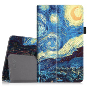 Fintie Folio Case for Amazon Fire (Previous 5th Generation, 2015 18cm ) - Slim Fit Premium Vegan Leather Standing Protective Cover, Starry Night
