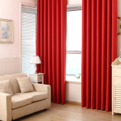 2 Panels Solid Colour Polyester Thermal Insulated Blackout Curtains for Bedroom, Rod Pocket, 100cm x 210cm /panel
