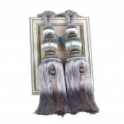 LianLe 1 Pair Lantern Tassel Curtains Tieback Curtain Holdback Rope Tie Backs Window Treatments