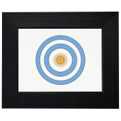 Cool Geeky Captain Argentina Shield America Framed Print Poster Wall or Desk Mount Options