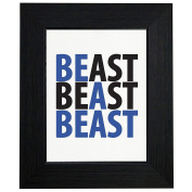 Be A Beast Weight Lifting Exercise Workout Framed Print Poster Wall or Desk Mount Options
