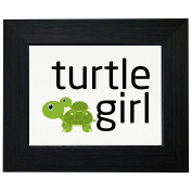 Turtle Girl - Baby Turtle Riding on Momma Turtle Framed Print Poster Wall or Desk Mount Options