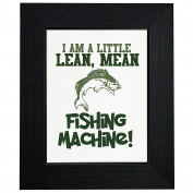 Little Lean Mean Fishing Machine - With Fish Framed Print Poster Wall or Desk Mount Options