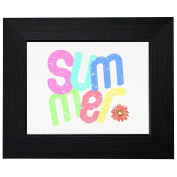 Summer - Cute Colourful Fun Summer Graphic Design Framed Print Poster Wall or Desk Mount Options