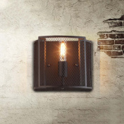 High quality-- Industrial Retro Style Wrought Iron Creative Personality Wall Lamp Restaurant Bar Cafe Bedroom Bedside Wall Wall Lamp --Efficiency:A+++