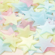 Lumanuby 100Pcs Luminous Star Wall Stickers ,Glowing In The Dark Stars ,Plastic Wall Decor Stickers for Baby Kid's Living Room Bedroom