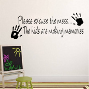 PeiTrade Children's Room Nursery Palm Can Be Removed Wall Sticker Art Decal Home Room Decor Office Wall Mural Wallpaper Art Sticker Decal Paper Mural for Home Bedroom