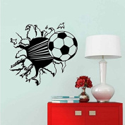 PeiTrade Football Living Room Bedroom Children's Room Background Wall Sticker Art Decal Home Room Decor Office Wall Mural Wallpaper Art Sticker Decal Paper Mural for Home Bedroom