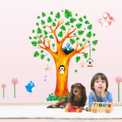 PeiTrade Small Animal Tree Animal Home Wall Stickers Children Room Decoration Stickers Wall Sticker Art Decal Home Room Decor Office Wall Mural Wallpaper Art Sticker Decal Paper Mural for Home Bedroom