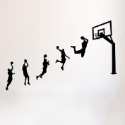 3D creative boys dormitory wall stickers bedroom wall decorations boy room bedroom layout basketball posters