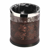 European minimalist creative home living room bedroom kitchen bathroom leather leather trash cans 10L