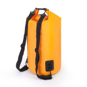 Floating Dry Bags Double Handle On Top for Outdoor Boating Canoeing Water Sports 10L/20L PVC Waterproof RedLitchi