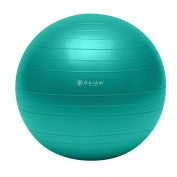 Gaiam Total Body Balance Ball Kit - Includes Anti-Burst Stability Exercise Yoga Ball, Air Pump, & Workout DVD