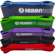 MummyStrength Pull Up Assist Band   Stretch Resistance Pull-up & Mobility Bands   Perfect For Pull-ups, Chin ups & Powerlifting. Works with Any Pullup Bar or Station. Digital How-To Guide. SINGLE BAND