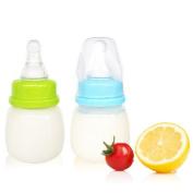 60ml 2oz Mini Newborn Feeding Bottle Silicon Nursing Nipple Random Colour