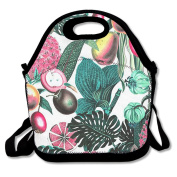 Ryskeco Rainforest Pattern Portable Reusable Lunch Tote Bags For Women, Teens, Girls, Kids, Baby, Adults,Work, Office, School Or Gym