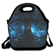 Celtic Tree Symbol Large & Thick Insulated Tote GroceryBags Utensils Lunch Bag For Men Women Kids Enjoy You Lunch