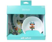BPA FREE Baby / Kids Bear Dinner Plate & Cup 3 Gift Set
