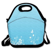 QIFAN Lunch Bags Blue Pattern Storage Bags Picnic Bags Snack Bags For Adult Kids Children