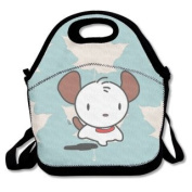 QIFAN Lunch Bags Cute Puppy Tote Bags Picnic Bags Snack Bags For Teen Adult Kids Children