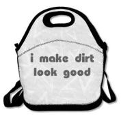 QIFAN Lunch Bags I Make Dirt Look Good Diagonal Bags Picnic Bags Fast Food Packaging For Teen