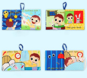 Baby Todder Good Night Book, Efaster Education Cloth Book Baby Todder Early Development Book