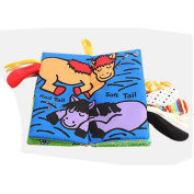 Baby Todder Tail Book, Efaster Animal Tails Cloth Book Baby Todder Early Development Book