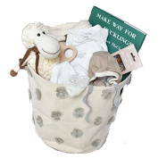 Organic Layette Gift Basket For Baby - Group Gift Idea for Baby Shower