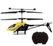 KINGSEVEN Mini RC Helicopter Indoor Remote Control Toy 2 Channel Aircraft,Yellow