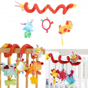WALLER PAA Lovely Animal Handbells Developmental Toy Bed Bells Kids Baby Soft Toys Rattle