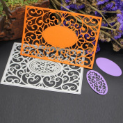 LandFox Cutting Dies Stencil Metal Template Mould - DIY Scrapbooking Album Paper Card Decor Craft
