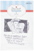 Gourmet Rubber Stamps Martini Diet Cling Stamps, 7cm x 12cm