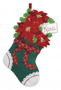 Bucilla Felt Applique Stocking Kit (46cm ), 86705 Christmas Poinsettia