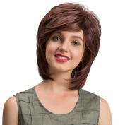 Short Wigs, Hometom Women's Natural Straight Short Hair Fluffy Wigs