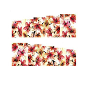 MagiDeal Pack of 10pcs DIY Nail Water Transfer Decals Nails Art Stickers Decal Tool Home Beauty Use - Flowers Styles - A062