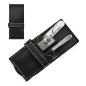 Hans Kniebes' Sonnenschein 3-Piece Gents' Manicure Set with crystal nail file, in Leather Case | made in Germany