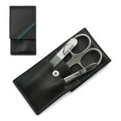 Hans Kniebes' Sonnenschein 3-Piece Manicure Set with crystal nail file, in Nappa Leather Case | made in Germany