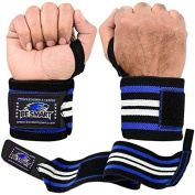 BeSmart Power Weight Lifting Wrist Wraps Supports Gym Training Fist Straps - *Professional Wrist Wraps Available In 18 Colours* FREE DELIVERY