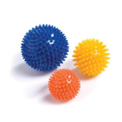 PhysioRoom Spiky Massage Ball - Exercise Ball Trigger Point Massage, Stress, Reflexology, Eases Tension, Hand Therapy, Relaxation Exercises, Improve Circulation, Treats Back, Legs and Arm Pain
